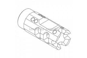 RETRO ARMS CNC muzzle break type A  CNC muzzle break type A black  14mm Positive