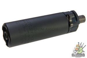 RGW SF SOCOM46 Mini Dummy Silencer forTokyo Marui MP7 GBB (12mm CCW) - BK