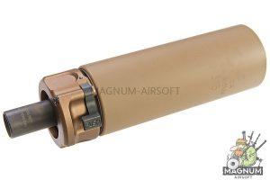 RGW SF SOCOM46 Mini Dummy Silencer forTokyo Marui MP7 GBB (12mm CCW) - DE