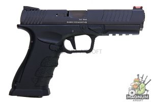 APS Shark B Semi / Auto Gas Pistol - Black