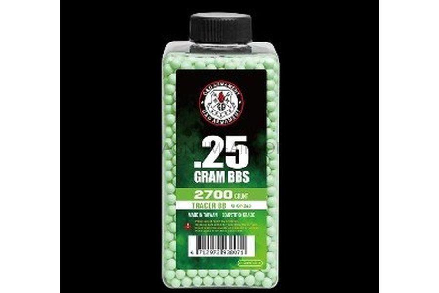 SHariki GG 025 trasser zelenyy 2700 sht. butylka 24 butylki v korobke G 07 265 900x600 - Шары G&G 0,25 трассер зеленый (2700 шт., бутылка )