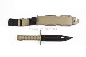 Штык-нож T&D пластиковый тренировочный TAN (TD013 TN)