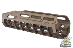 Strike Industries 6061 Aluminum Hayl Rail MLOK Handguard for Benelli M4 - FDE