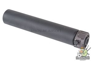 Angry Gun Socom762 Dummy Silencer with Flash Hider - Long (14mm CCW, BK)