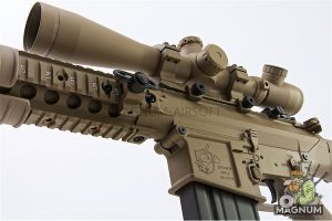 ARES SR25-M110 Sniper Rifle (Electric Fire Control System Version) - Tan (Licensed by Knight's)