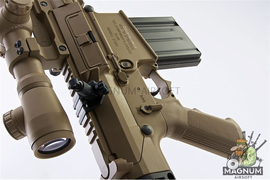ARES SR25-M110K Sniper Rifle (Electric Fire Control System Version) - Tan (Licensed by Knight's)