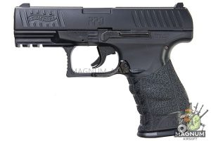 Umarex WALTHER PPQ 'HME' Metal Slide 6mm Spring Cocking Pistol - Black