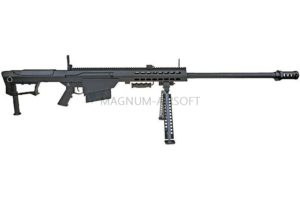 ВИНТОВКА BARRET M107 SNOW WOLF AEG, металл, пластик, без оптики, сошки SW-013 BK