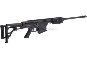 ВИНТОВКА BARRET M98B SNOW WOLF AEG, металл, пластик, без оптики, сошки SW-016 BK