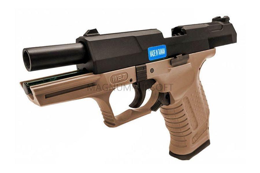 Пистолет WE WALTHER P99 GBB, металл, WE-PX001 - TAN