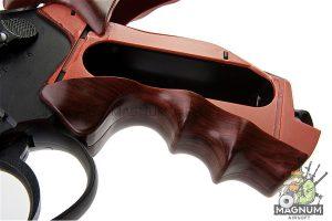 Gun Heaven (WinGun) 702 6 inch 6mm Co2 Revolver (Brown Grip) - Black