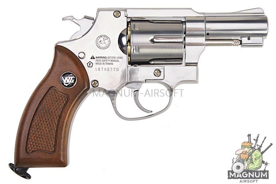 Gun Heaven (WinGun) 731 Sheriff M36 2.5 inch Co2 Revolver - Silver