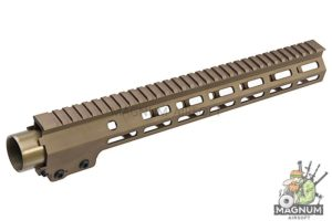 Z-Parts MK16 M-Lok 13.5 inch Rail for GHK M4 GBBR Series (w/ Barrel Nut) - DDC