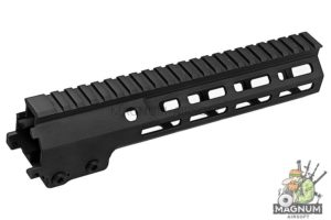 Z-Parts MK16 M-Lok 9.3 inch Rail for Tokyo Marui M4 MWS GBBR Series (w/ Barrel Nut) - Black