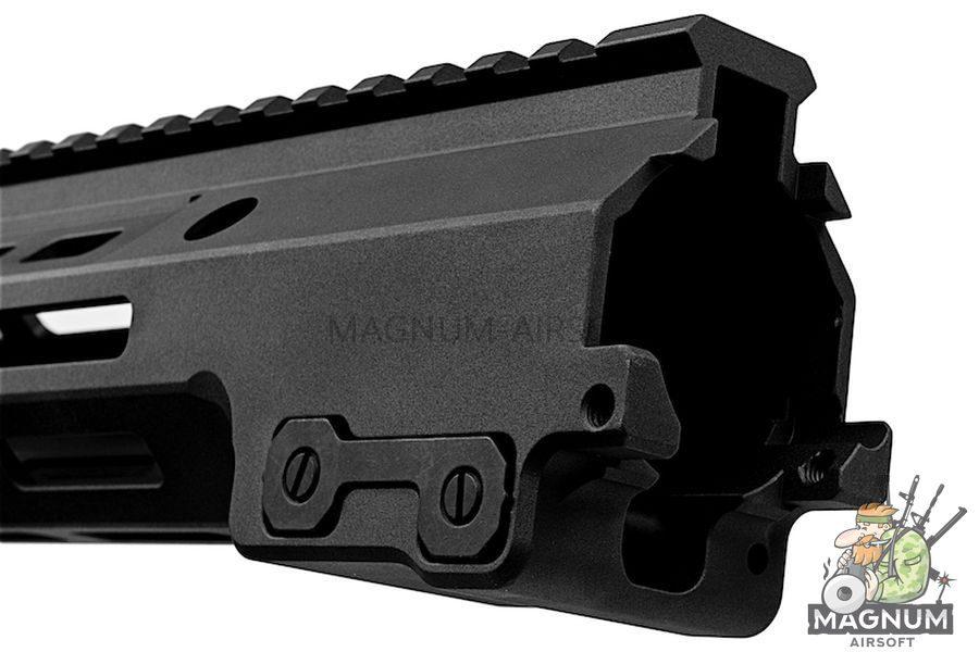 Z-Parts MK16 M-Lok 9.3 inch Rail for Tokyo Marui M4 MWS GBBR Series (w/ Barrel Nut) - Black