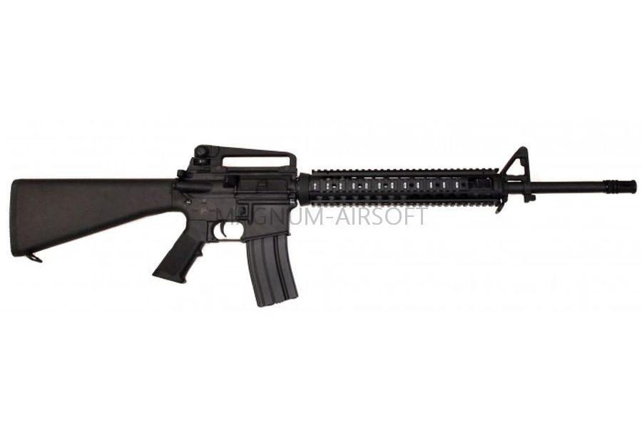 Автомат Cyma M16A4, металл, RIS, черн.пластик, ЗУ, АКБ - CM009A4
