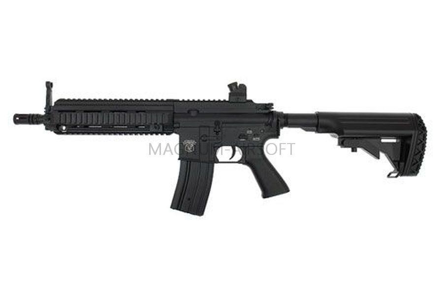 Автомат HK-416 AGM, AEG, металл, черный пластик, ЗУ, АКБ, - МРO51