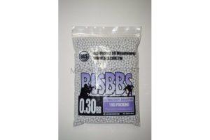 Шарики BLS 0,30  (1кг, белые, пакет)