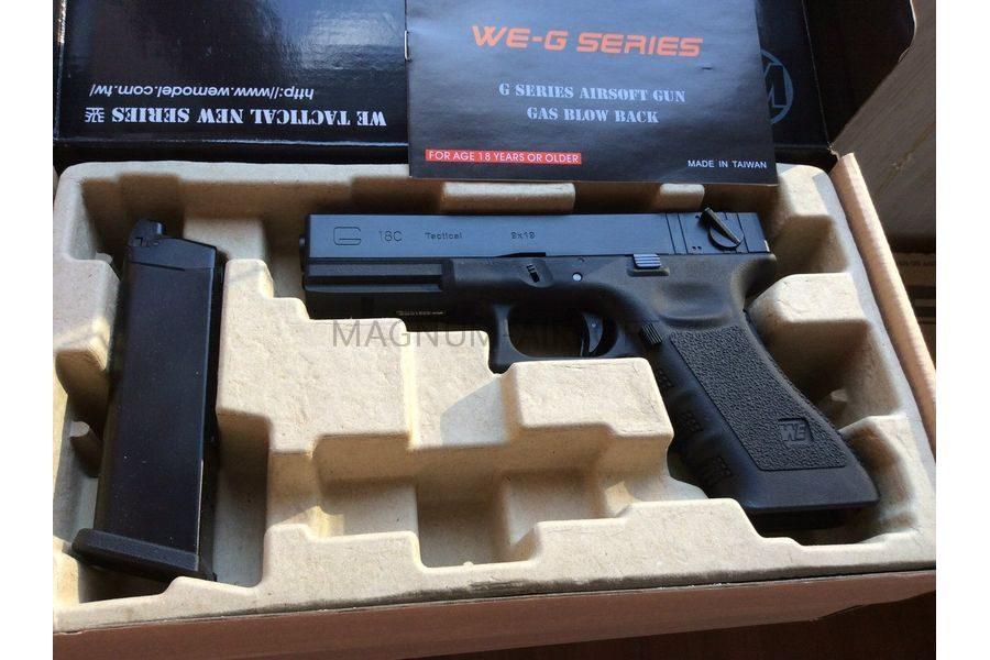 Пистолет WE GLOCK-18 gen3, авт, металл слайд WE-G002A-BK / GP617A