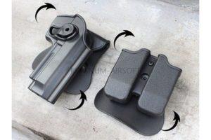 КОБУРА пластиковая с подсумками Beretta M92 Black код WS21572B