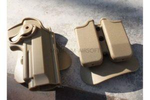 КОБУРА пластиковая с подсумками Beretta M92 Tan код WS21572DE