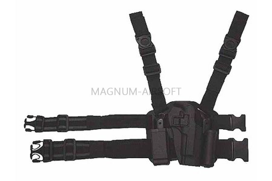 КОБУРА с платформой пластиковая Beretta 92/96 Black код AS-HL0003B-M92