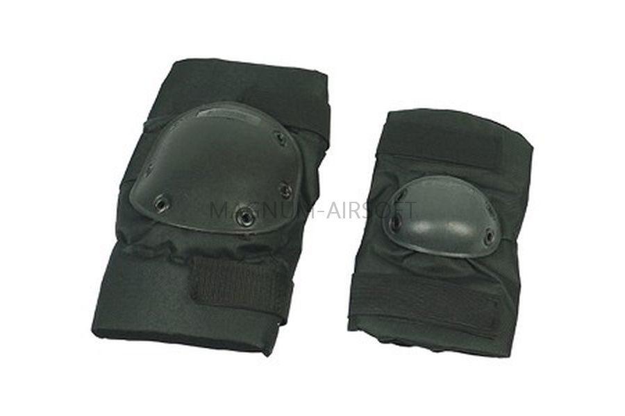 Комплект наколенники и налокотники SWAT Black WS20155B AS-PG0023B