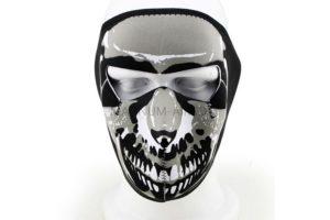 Маска неопреновая на все лицо бело-черная Skull  AS-MS0023