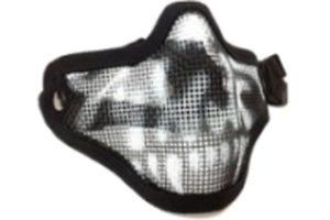 Маска-сетка с 2-мя ремешками на ниж. часть лица Вlack Skull