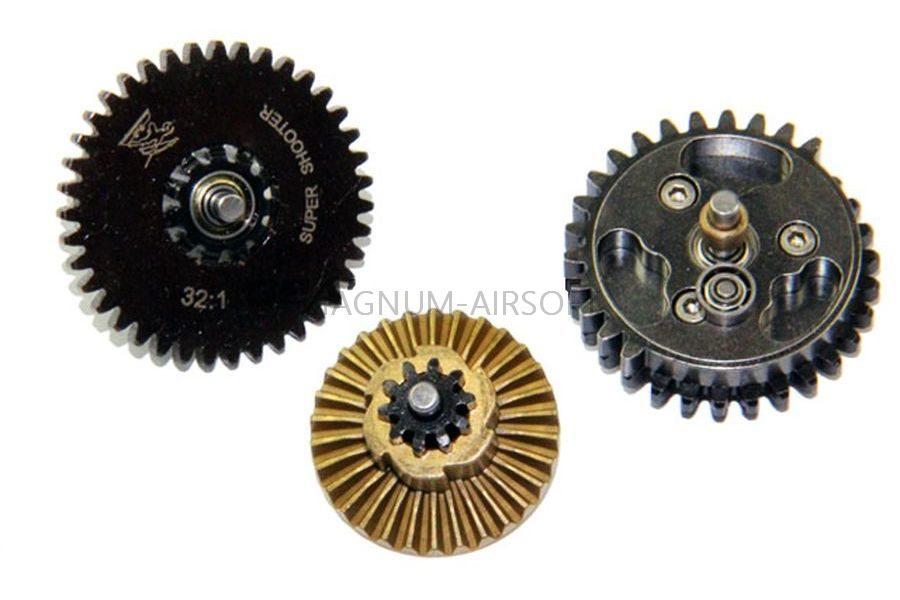 Набор шестерней Super shooter gearset 32:1 CNC Steel SHS CL4018