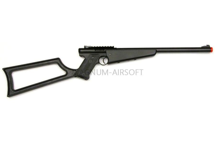 Пистолет-карабин KJW Mk1 Black GAS, GNB, черный, пластик, HU MK1-C