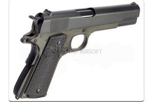 Пистолет KJW COLT M1911A1 GBB, олива, металл, модель - M1911 (OD) GP112G