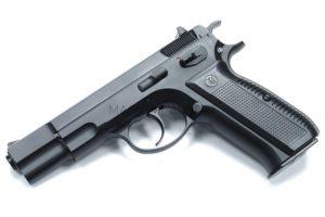 Пистолет KJW CZ75 Black GBB, черный, металл, модель - KP-09.GAS GP430