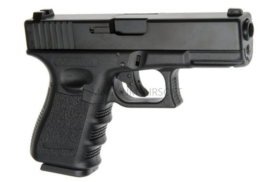 Пистолет KJW GLOCK G23 GBB, черный, мет. слайд, модель - KJW-G23-MS (BK) GP607