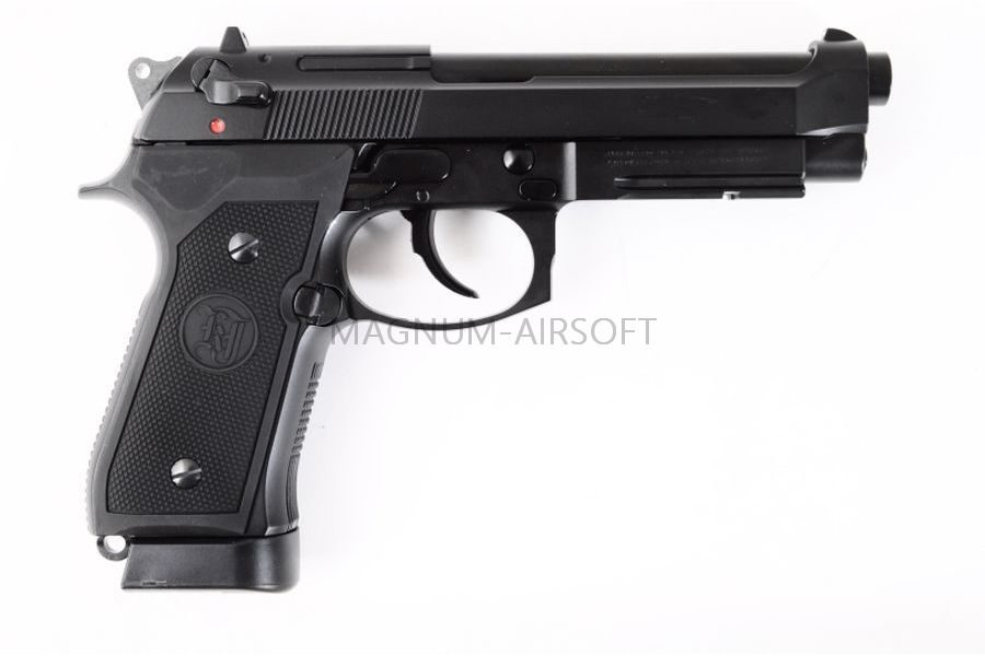Пистолет KJW M9 VE-FM GBB, CO2, черный, металл, рельса, модель - VE.CO2 CP329