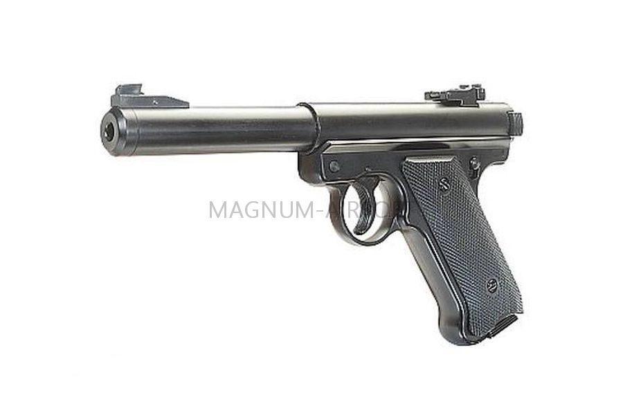 Пистолет KJW Mk1 Black GAS, GNB, черный, пластик, HU