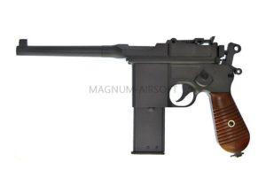 Пистолет HFC Маузер 712, GAS, длинный магазин, металл, дерево HG-196