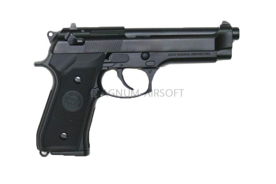 Пистолет WE BERETTA M92F, CO2, черный, металл, WE-M001-CO2 / CP301