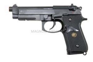 Пистолет WE BERETTA M92F, черный, металл, рельса, WE-M008-BK / GP321