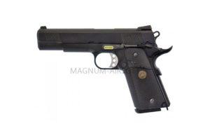 Пистолет WE COLT M1911А1, металл, M.E.U. Black, GP111, WE-E008 / WE-047