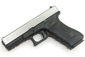 Пистолет WE GLOCK-18 gen4, авт, металл слайд, хром, сменные накладки WE-G002B-SV / GP617B-SV