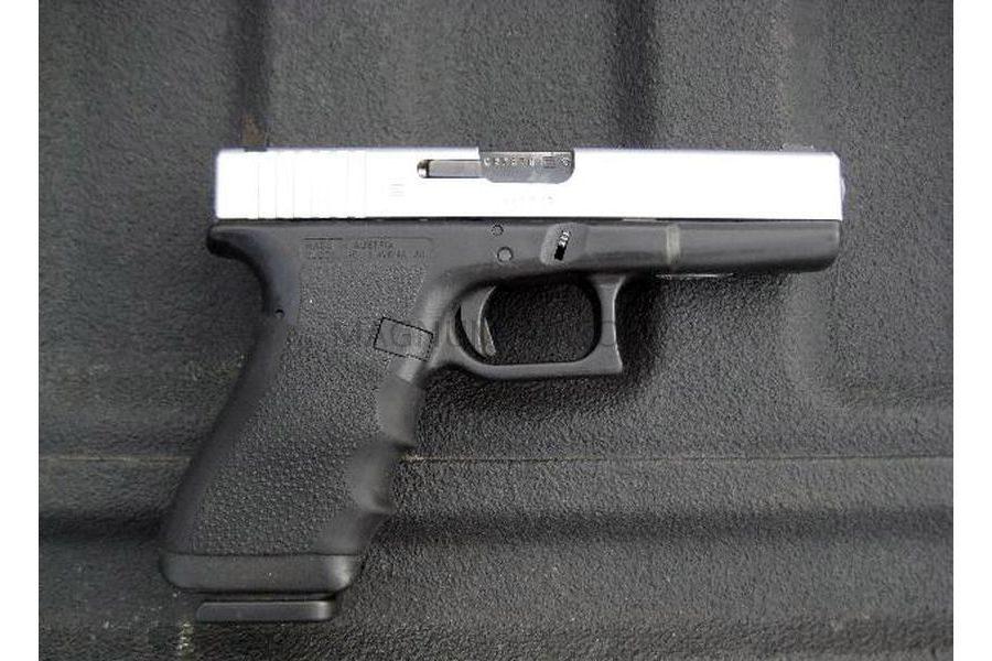 Пистолет WE GLOCK-23 gen3, металл слайд, автомат, хромированный WE-G004A-SV