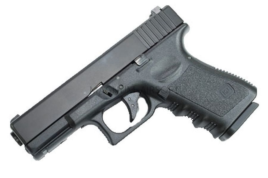 Пистолет WE GLOCK-23 gen3, металл слайд, автомат, WE-G004A-BK / GP620A