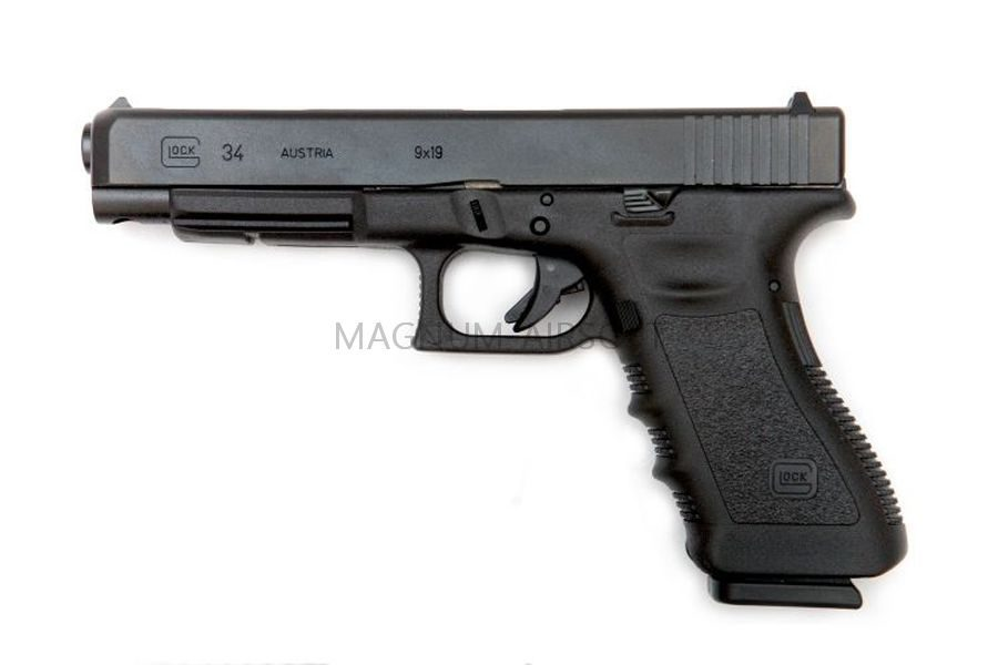 Пистолет WE GLOCK-34 gen3, металл слайд, WE-G008A-BK / GP625A