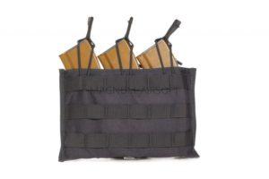Подсумок п/3 маг М/AK серия  резинка МР-104- BK -черный ВЕКТОР WARTECH