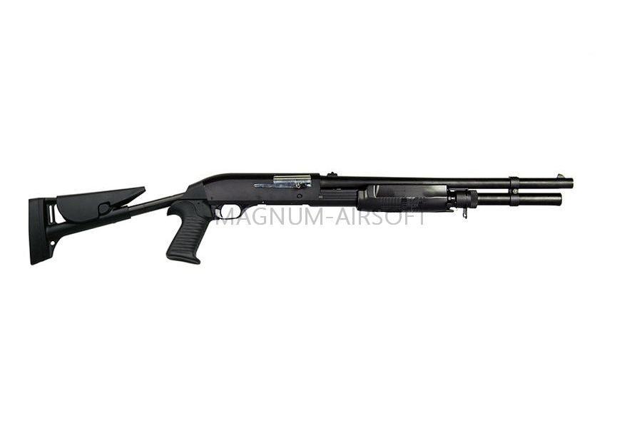 Дробовик Cyma M3 Super 90 металл, с выдвижным прикладом, магазин в имитации патрона SPRING CM.363LM