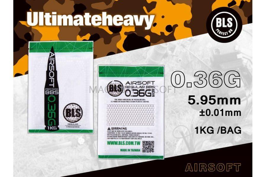 Шарики BLS 0,36  (1кг, белые, пакет)