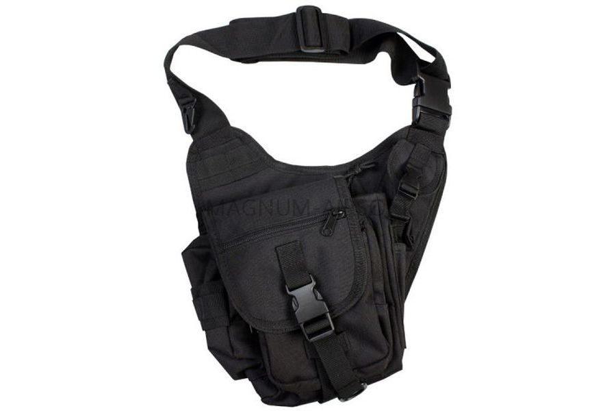 СУМКА НАПЛЕЧНАЯ SWAT Utility Military Tactical (600D) BLACK код AS-BS0019B