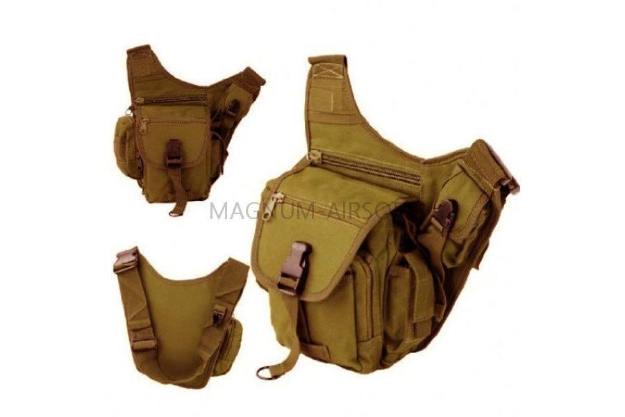 СУМКА НАПЛЕЧНАЯ SWAT Utility Military Tactical (600D) TAN код AS-BS0019T