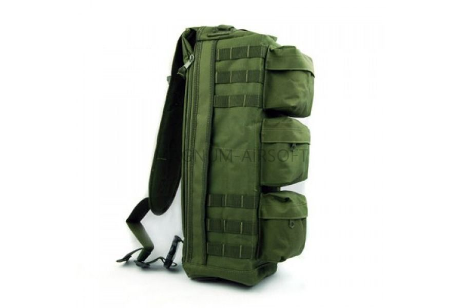 СУМКА НАПЛЕЧНАЯ Tactical Go Pack Camping Military (600D) GREEN код AS-BS0012OD